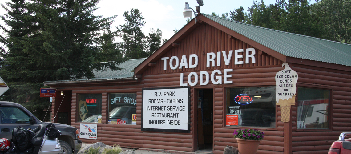 Toad River Lodge is open every day of the year on the Alaska Highway.